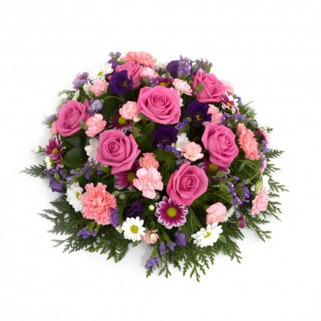 Funeral posy pink/white