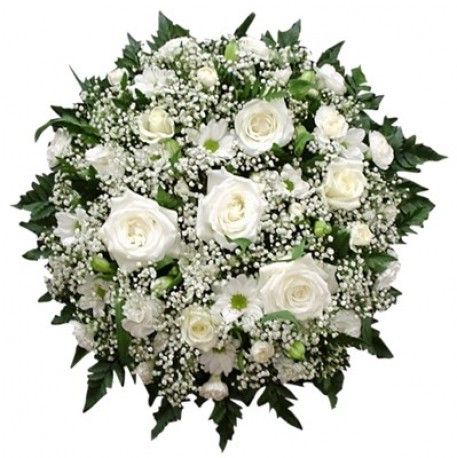 White rose posy
